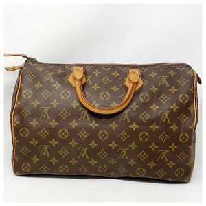 Authentic Louis Vuitton Speedy 35 Satchel Bag